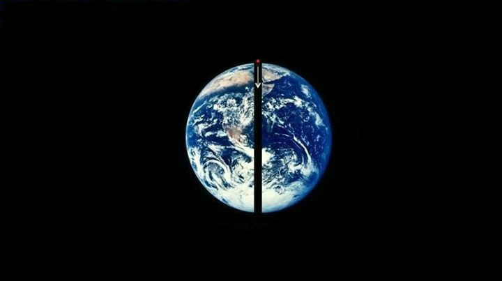 к центру земли